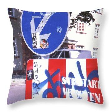 Street Art In Street Sign Throw Pillow