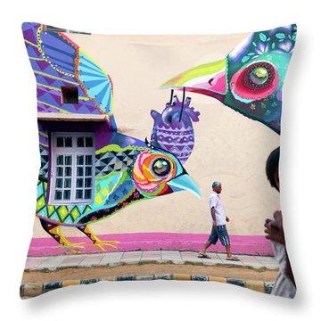 Street Art Throw Pillow by Marji Lang