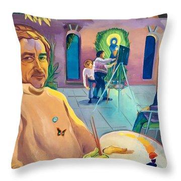 Street Artist Eric Fisherman's Wharf Throw Pillow