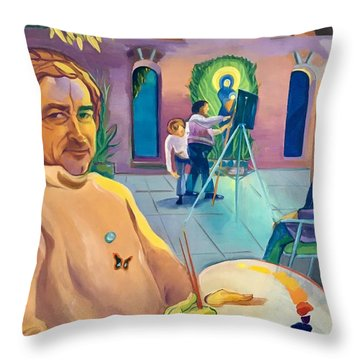 Street Artist Eric Fisherman's Wharf Throw Pillow