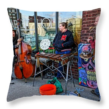 Street Band Throw Pillow