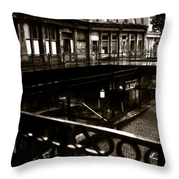 Street Below  Throw Pillow by Marcin and Dawid Witukiewicz