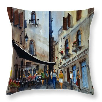 Taverna D' Strada Throw Pillow