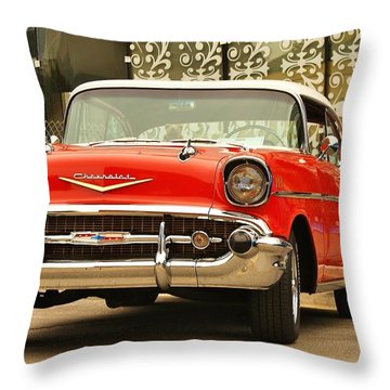 Throw Pillow featuring the photograph Street Classic by Al Fritz