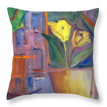 Street From My Window Throw Pillow by Betty Pieper