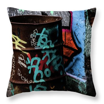 Street Gallery Throw Pillow