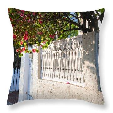 Street In Key West Throw Pillow