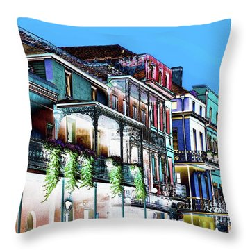 Street In New Orleans Throw Pillow