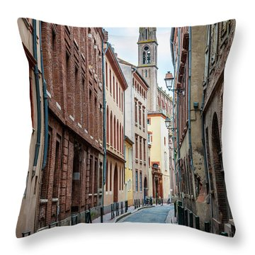 Throw Pillow featuring the photograph Street In Toulouse by Elena Elisseeva