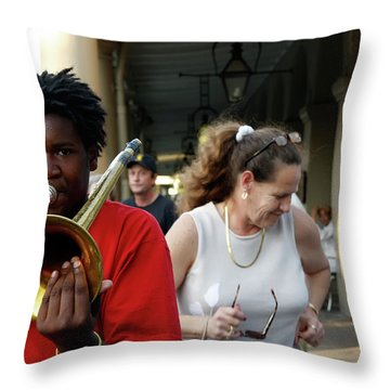 Throw Pillow featuring the photograph Street Jazz by KG Thienemann