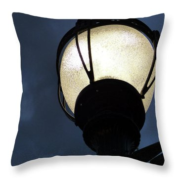 Street Lamp At Night Throw Pillow