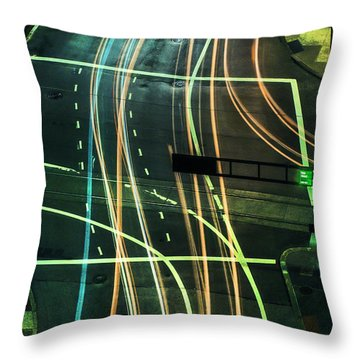 Street Lights Throw Pillow by Scott Meyer