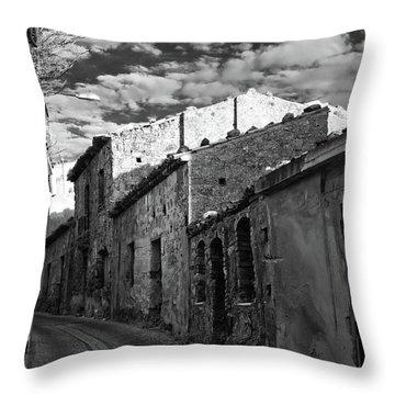 Street Little Town Throw Pillow