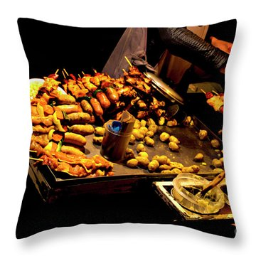 Throw Pillow featuring the photograph Street Meat by Al Bourassa
