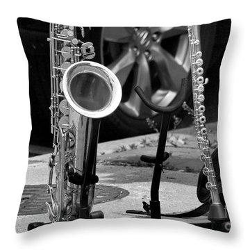 Street Music Throw Pillow by John S