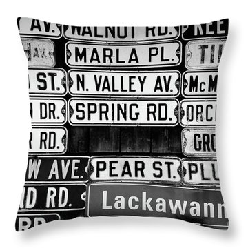 Throw Pillow featuring the photograph Street Names by Colleen Kammerer