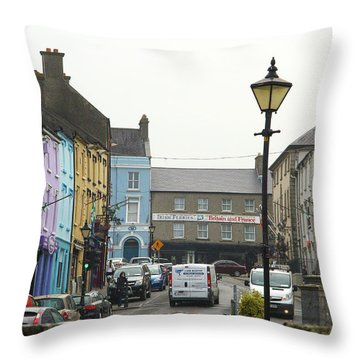 Streets Of Cahir Throw Pillow