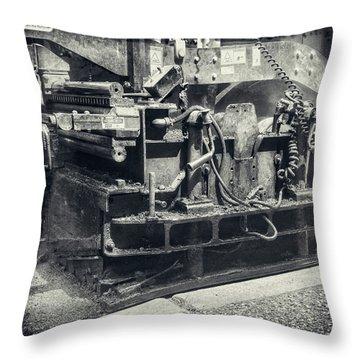 Street Paver Throw Pillow