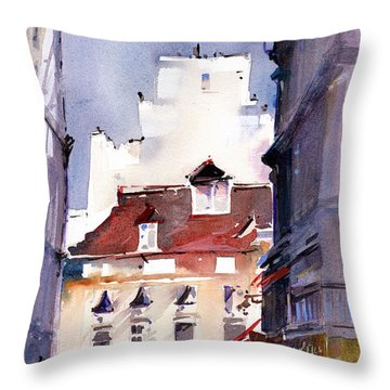 Parisian Stroll Throw Pillow