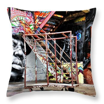 Street Portraiture Throw Pillow