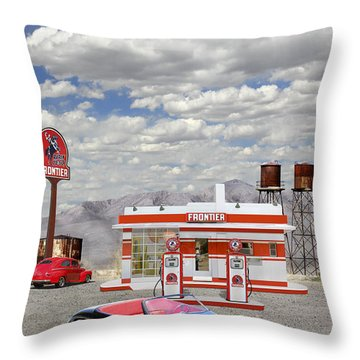 Street Rod At Frontier Station Throw Pillow