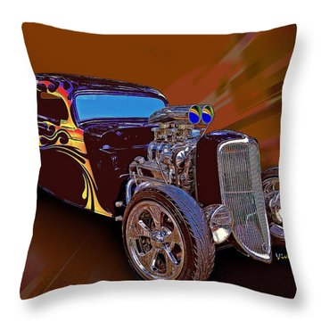 Street Rod What Is It Throw Pillow
