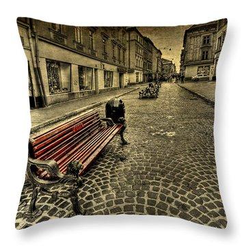Street Seat Throw Pillow