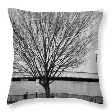 Street Shot At The Hirshorn  Throw Pillow