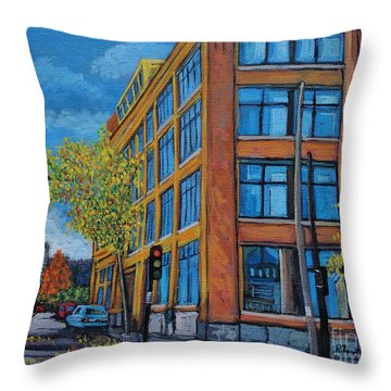 Street Study Montreal Throw Pillow