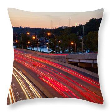 Street Trails Throw Pillow
