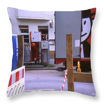 Street Works Throw Pillow