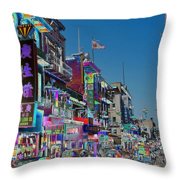Streets Of Color Throw Pillow
