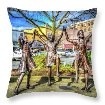 Streets Of Everett Throw Pillow by Spencer McDonald