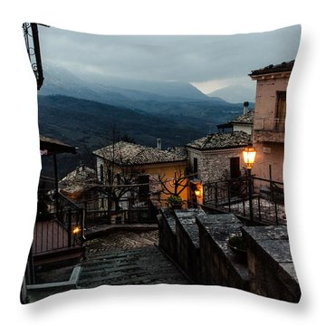 Streets Of Italy - Caramanico 3 Throw Pillow