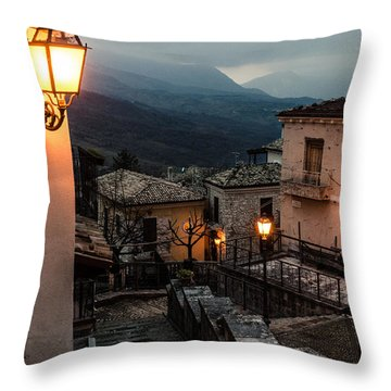 Streets Of Italy - Caramanico Throw Pillow
