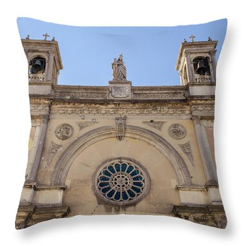 Streets Of Italy - Guardiagrele 14 Throw Pillow by Andrea Mazzocchetti