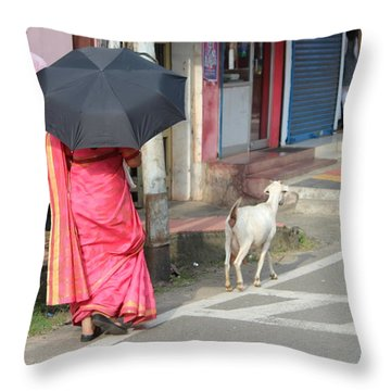 Streets Of Kochi Throw Pillow