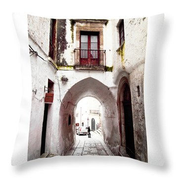 Streets Of Ostuni Throw Pillow