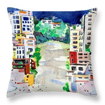 Streets Of San Francsico Throw Pillow