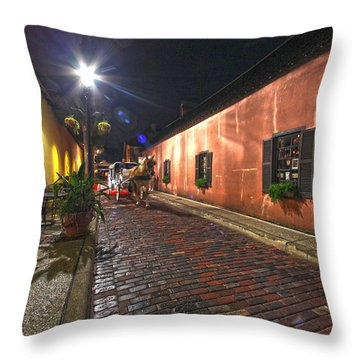Streets Of St Augustine Throw Pillow by Robert Och