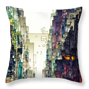 Streetscape 1 Throw Pillow