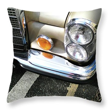 Throw Pillow featuring the photograph Streetwise Glamour by Rebecca Harman