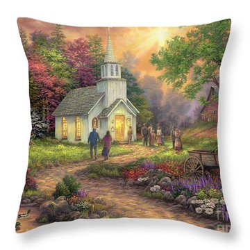 Strength Along The Journey Throw Pillow