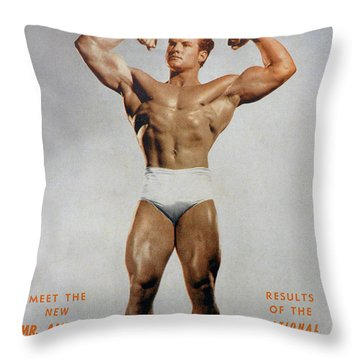 Strength And Health August 1947 Throw Pillow