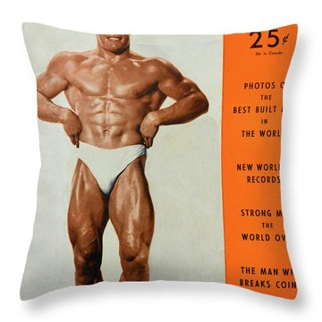 Strength And Health Mag April 1948 Throw Pillow