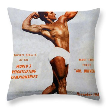 Strength And Health Mag November 1947 Throw Pillow