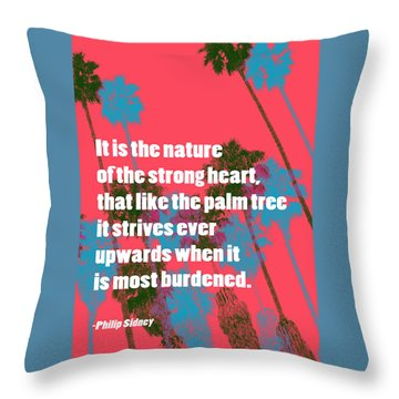 Strength In Nature Throw Pillow by John Fish