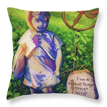 Strength Throw Pillow