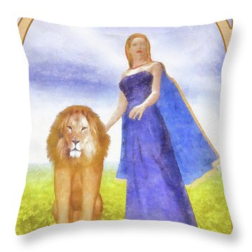 Strength Throw Pillow by John Edwards