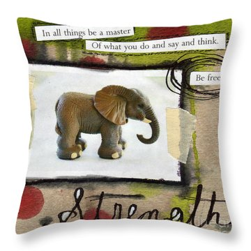 Strength Throw Pillow by Linda Woods